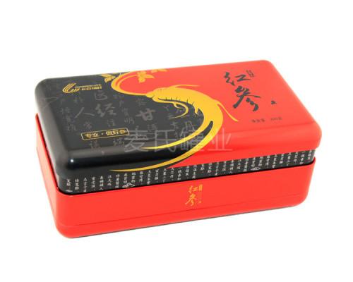 长方形红参竞博jbo亚洲第一电竞平台 马口铁人参竞博jbo亚洲第一电竞平台盒