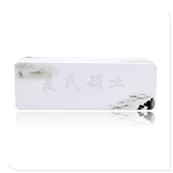 白茶竞博jbo亚洲第一电竞平台盒|长方形茶叶竞博jbo亚洲第一电竞平台|定做马口铁茶叶盒