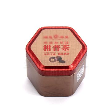 供应柑普茶叶竞博jbo亚洲第一电竞平台 小青柑茶饼竞博jbo亚洲第一电竞平台 迷你六角茶叶罐订做