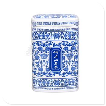 方形茗茶竞博jbo亚洲第一电竞平台|青花瓷茶叶罐|马口竞博jbo亚洲第一电竞平台生产厂家
