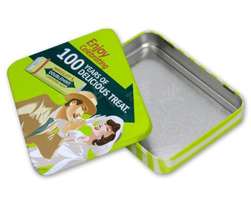 绿箭口香糖包装铁盒