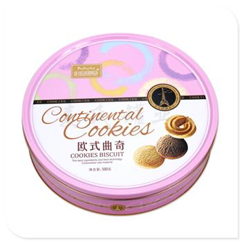 欧式曲奇竞博jbo亚洲第一电竞平台|圆形饼干盒定制|精美饼干盒加工厂家